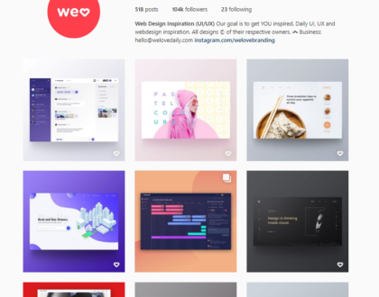 The 5 Best Instagram Pages to Follow about Web Design