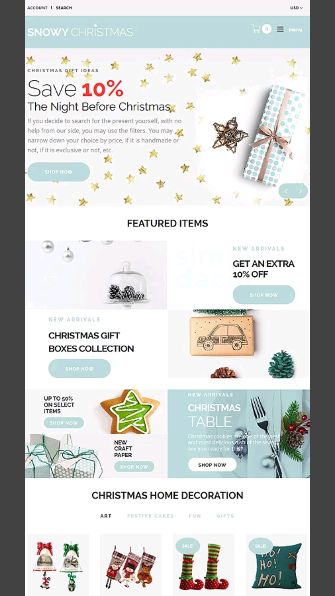Christmas-Themed Shopify Templates